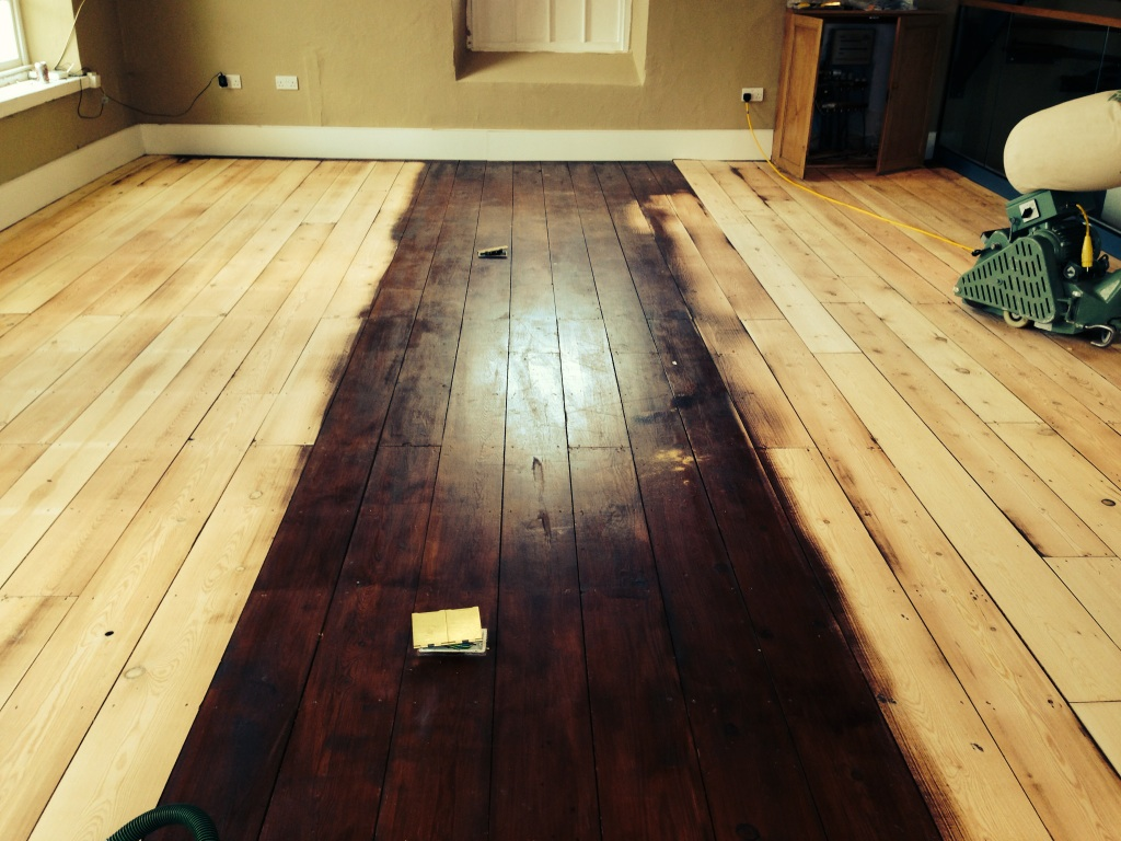 Bona Traffic Hd Matt Finish On Pine Boards Bath Floor