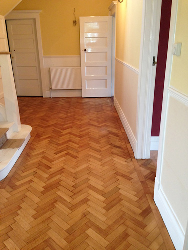 Treatex Hardwax Oil On Oak Block Flooring Hallway Bath